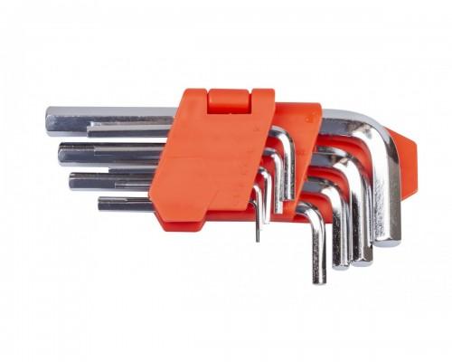 Набор ключей шестигранных L-образных 9 шт., 1.5-10 мм, стандартной длины LA 511601