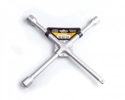 """Ключ баллонный крестообразный усиленный 17x19x21x1/2"""" D=14 мм x 14"""" серый LA XY1721"""